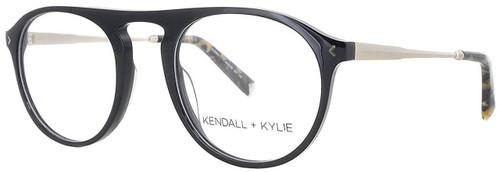 Kendall + Kylie Designer Reading Glasses Audrey KKO104-001 in Black 50mm