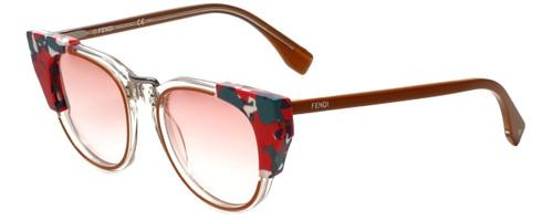 Fendi Designer Sunglasses FF0074-RCI in Rust Havana Red 50mm