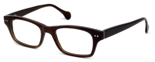 Calabria Elite Designer Reading Glasses CEBH118 in Brown Horn