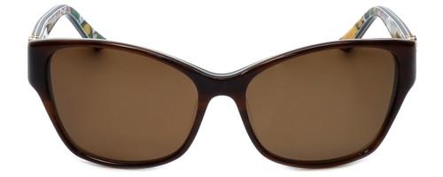 Vera Bradley Designer Sunglasses Marsha in Horn with Amber Lens