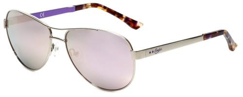 Candie's Designer Sunglasses CA1018-08Z in Silver with Purple Mirror Lens