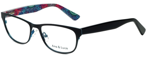 Ana & Luca Designer Eyeglasses Chiara in Black 51mm :: Custom Left & Right Lens