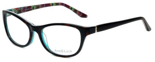 Ana & Luca Designer Eyeglasses Silvia in Tortoise 52mm :: Progressive