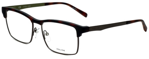 Police Designer Eyeglasses Kick Off 3VPL260-0V50 in Rubber Havana 54mm :: Progressive