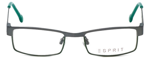 Esprit Designer Eyeglasses ET17412-505 in Gunmetal Green 45mm :: Rx Single Vision