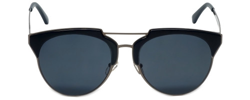 Lucky Brand Designer Sunglasses Cambria in Navy Gunmetal with Grey Lens
