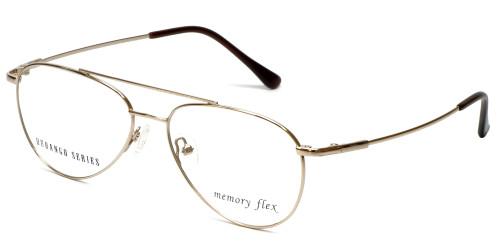 Silver Dollar Designer Reading Glasses Gunnison in Gold 54mm