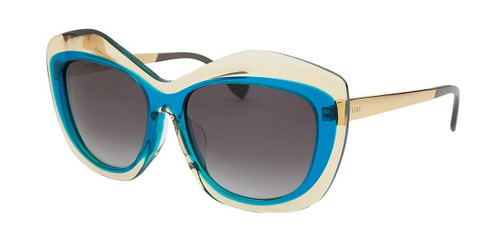 Fendi Designer Sunglasses FF0029 in Yellow Peacock with Grey Gradient Lens