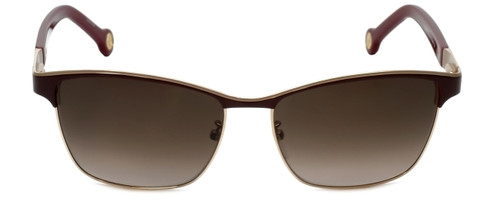 Carolina Herrera Designer Sunglasses SHE069-0484 in Brown Metalmm