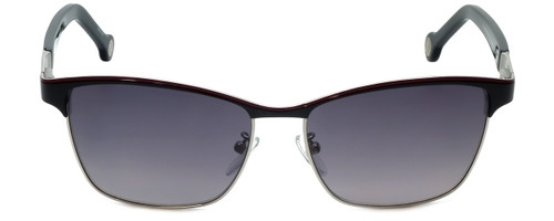Carolina Herrera Designer Sunglasses SHE069-08D6 in Black Red Metalmm