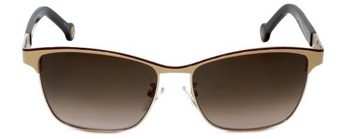Carolina Herrera Designer Sunglasses SHE069-0SL3 in Pink Brown Metalmm
