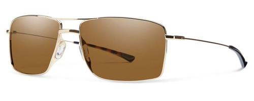 Smith Optics Designer Sunglasses Turner in Gold with Amber Lens