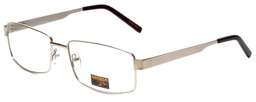 Gotham Style Designer Eyeglasses GS13 in Gold 58mm :: Custom Left & Right Lens