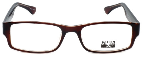 Gotham Style Designer Eyeglasses G232 in Brown 60mm :: Progressive