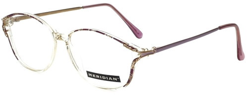 Meridian Designer Eyeglasses 8101-LAV in Clear Lavender 55mm :: Custom Left & Right Lens