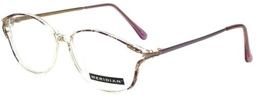 Meridian Designer Eyeglasses 8101-LAV in Clear Lavender 55mm :: Rx Single Vision