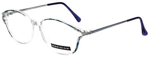Meridian Designer Reading Glasses 8101-BLU in Clear Blue 55mm