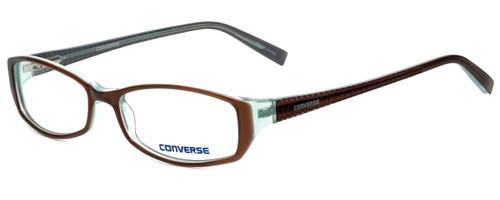 Converse Designer Eyeglasses Black-Top in Brown 52mm :: Rx Single Vision