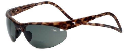 Clic Sunglass II Tortoise Polarized Bi-Focal Reading Sunglasses
