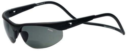 Clic Sunglass II Black Polarized Bi-Focal Reading Sunglasses