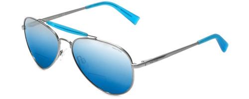 Nautica Designer Polarized  Bi-Focal Reading Sunglasses N5114S-045 in Silver
