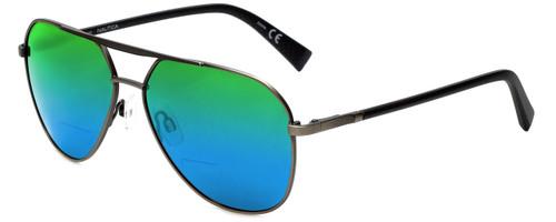 Nautica Designer Polarized  Bi-Focal Reading Sunglasses N5121S-030 in Gunmetal