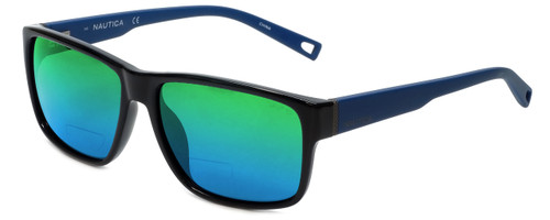 Nautica Designer Polarized  Bi-Focal Reading Sunglasses N6203S-001 in Black