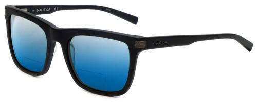 Nautica Designer Polarized  Bi-Focal Reading Sunglasses N6205S-005 in Matte Black