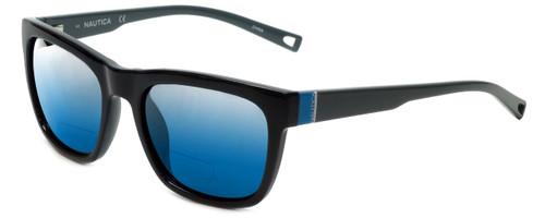 Nautica Designer Polarized  Bi-Focal Reading Sunglasses N6212S-001 in Black