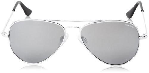 Randolph CR73463 57 mm Concorde Sunglasses in Bright Chrome & Grey