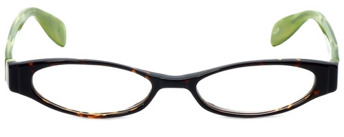 Scojo Pearl St Designer Reading Glasses in Tortoise Green
