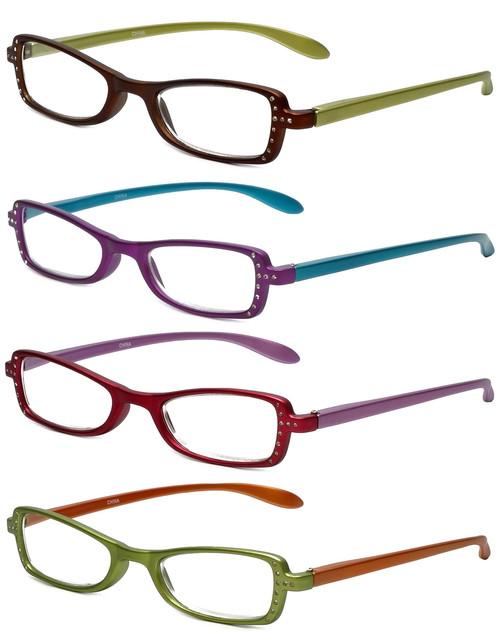 Calabria 837 Reading Glasses & Quad Case Gift Set