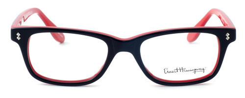 Ernest Hemingway Designer Eyeglasses H4617 in Black-Red 52mm :: Custom Left & Right Lens