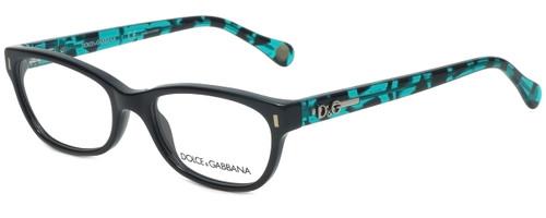 Dolce & Gabbana Designer Eyeglasses DD1205-1826-50 in Black Turquoise 50mm :: Rx Single Vision