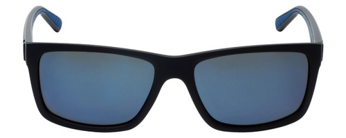 Timberland TB9096-02D Designer Polarized Sunglasses in Matte Black with Blue Flash Lens
