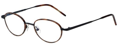 Hackett Designer Eyeglasses HEB080-10 in Demi Blonde Black 48mm :: Custom Left & Right Lens