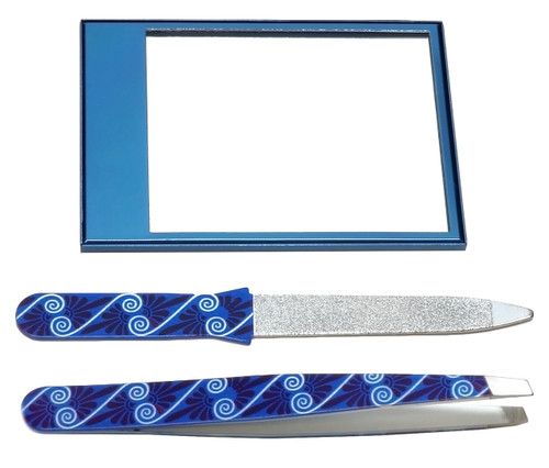 Vanity Care BeautyMate Travel Set (Nail File,Tweezers and Mirror)