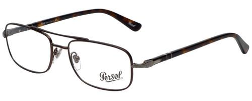 Persol Designer Eyeglasses PO2403V-992 in Matte Dark Brown 53mm :: Custom Left & Right Lens