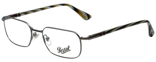Persol Designer Eyeglasses PO2431V-997-53 in Gunmetal 53mm :: Custom Left & Right Lens