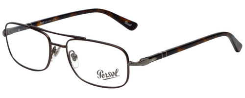 Persol Designer Eyeglasses PO2403V-992 in Matte Dark Brown 53mm :: Rx Single Vision