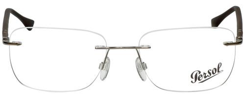 Persol Designer Reading Glasses PO2428V-1021-54 in Silver 54mm