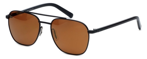 Harley-Davidson Official Designer Sunglasses HD2012-02G in Matte-Black Frame with Amber-Mirror Lens