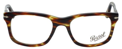 Persol Designer Eyeglasses PO3029V-938 in Green Striped Brown 52mm :: Custom Left & Right Lens