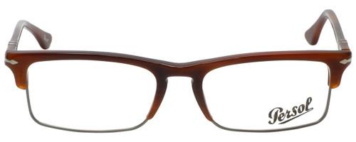 Persol Designer Eyeglasses PO3049V-957-54 in Corrugate Brown 54mm :: Custom Left & Right Lens