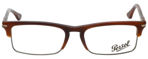 Persol Designer Eyeglasses PO3049V-957-52 in Corrugate Brown 52mm :: Rx Single Vision