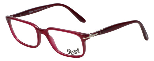 Persol Designer Eyeglasses Granato PO3013V-1016 in Dark Magenta 51mm :: Rx Single Vision