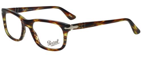 Persol Designer Eyeglasses PO3029V-938 in Green Striped Brown 52mm :: Progressive