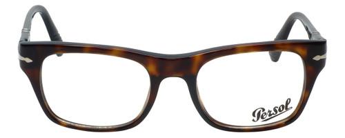 Persol Designer Eyeglasses Film Noir Edition PO3070V-24 in Tortoise 52mm :: Rx Single Vision