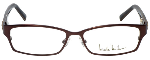 Nicole Miller Designer Eyeglasses Bowery-01 in Matte Espresso 53mm :: Custom Left & Right Lens