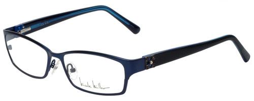 Nicole Miller Designer Eyeglasses Bowery-03 in Indigo Black 53mm :: Custom Left & Right Lens